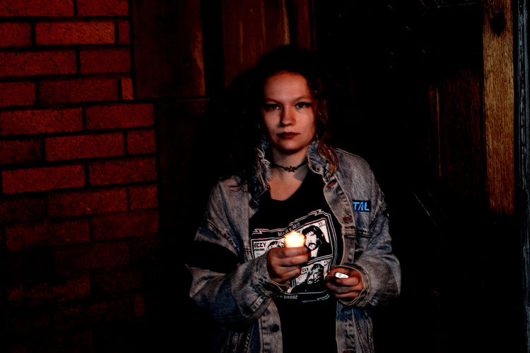 Beauty Casual Clothing Girl Goth Hookervalley Lifestyles Lighting Night Portrait Street