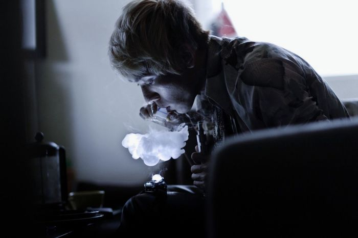 Dragon Vapor | Vapor Vape Vapeporn Vape Clouds Cloud Portrait Photography One Person Indoors  Young Adult Real People Young Man Candid Portraits Candidmoments Portrait Of A Friend Dragon Breath Blowing Clouds Blowing Vapors Vapeclouds Vaporizing E-Cigarette Profile Portrait Profile Portrait Backlight And Shadows