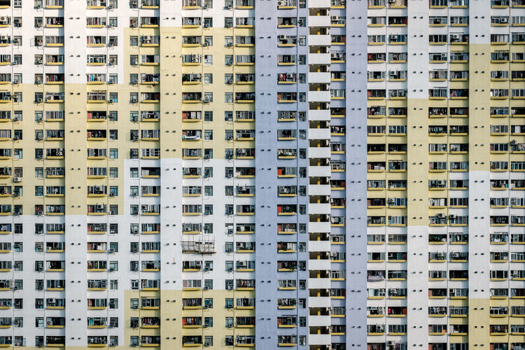 Building Exterior Architecture Built Structure Building Backgrounds City Residential District Apartment No People Repetition Pattern City Life Skyscraper Tall - High Day Outdoors HongKong Sha Tin ASIA