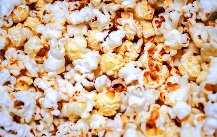 Close up view of popcorn Fattening Popcorn Snacking Backgrounds Close-up Food Food And Drink Full Frame No People Snack Sweet Food Tasty Unhealthy Eating