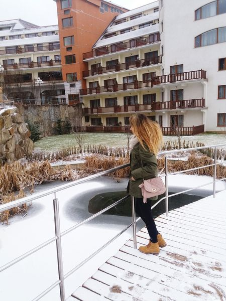 Full Length Built Structure Building Exterior Architecture One Person Lifestyles Real People Outdoors City Winter Day Cold Temperature One Woman Only Snow People Adults Only Adult Only Women Hello World ✌ Young Women Beauty Women Beautiful Woman