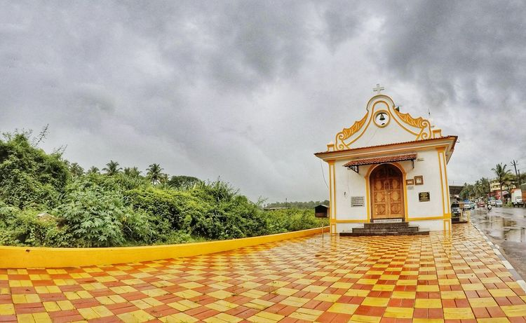 The remains of Portuguese.... Cloud - Sky Church Chappel Architecture Sky Carousel Outdoors Day Goa India Streetphotography Gopro HERO Wideangle EyeEm Best Shots EyeEm Gallery Open Edit OpenEdit EyeEm Nature Lover No People