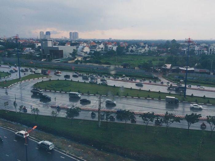 Saigon After The Rain Street City Skyline