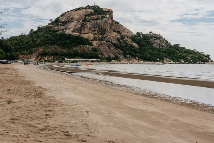 Mountain at kao takiab huahin. Beach Land Mountain Water Sky Sea Beauty In Nature Scenics - Nature Sand Cloud - Sky Day Nature Tranquil Scene Rock Tranquility Rock Formation Outdoors No People