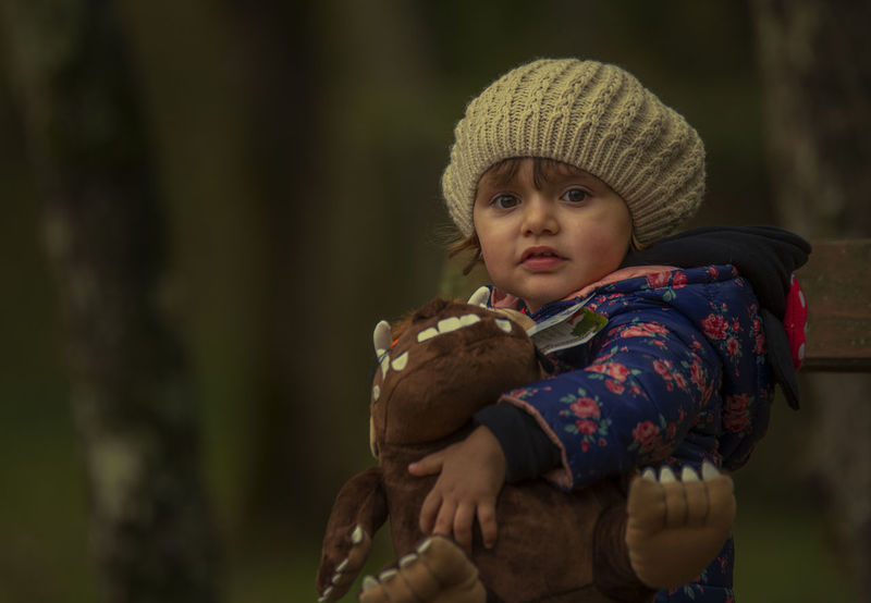 Aurora e il gruffalò Autumn Child Childhood Cold Temperature Day Knit Hat Males  Nature One Boy Only One Person Outdoors People Portrait