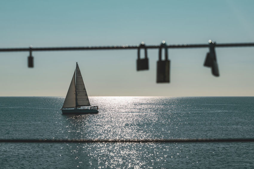 Transportation Sky Sea Water Nautical Vessel Mode Of Transportation Waterfront Sailboat Scenics - Nature Horizon Over Water Horizon Nature Beauty In Nature Tranquil Scene No People Tranquility Sailing Day Outdoors