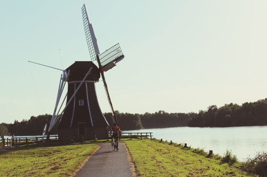 Mill Mills Filtered Image Dutch Dutch Landscape Dutch Landscapes Dutch Countyside Water Grass Green Soft Softness Check This Out Typical Cliche Dutch Windmill