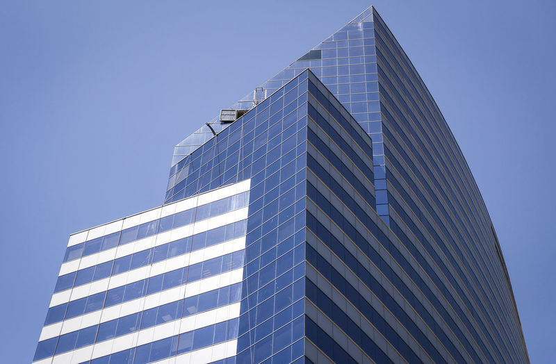 Building Exterior Architecture Built Structure Office Building Exterior Low Angle View Modern Office City Sky Building Clear Sky Glass - Material Skyscraper Tall - High Nature Day No People Reflection Outdoors Tower Financial District