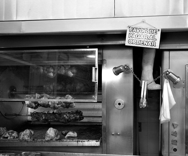 rubber boot and chicken rotisserie Chicken Day Freshness Fried Chicken Wings Indoors  Mexico City No People Retail  Rotisserie Rotisserie Chicken Small Business Store