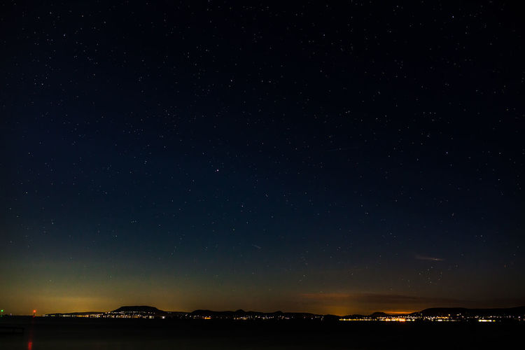 When you look up! Astronomy Balaton Beauty In Nature City Clear Sky Galaxy Lake Midnight Nature Night Night Lights Nightphotography No People Outdoors Scenics Sky Space Star - Space Star Field Stars TeamCanon Up