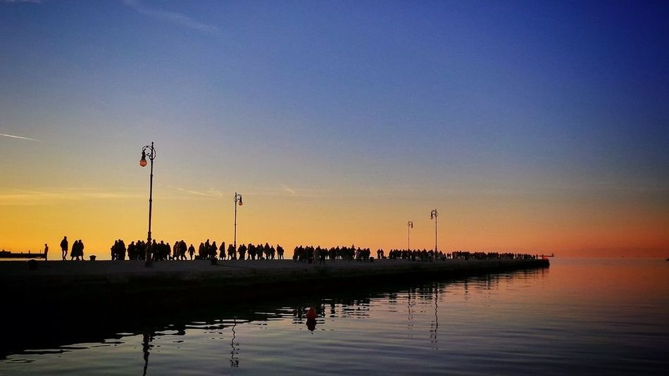 Landscape Sunset Silhouettes