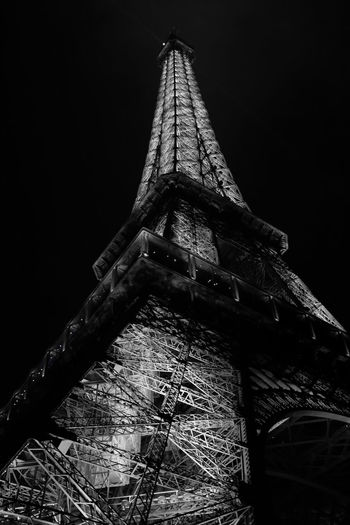 Eiffel tower Architecture Arcitecture B&w Black And White Built Structure Eiffel Tower Famous Place Fuji Fujifilm Low Angle View Metal Tower X100 X100S Xseries