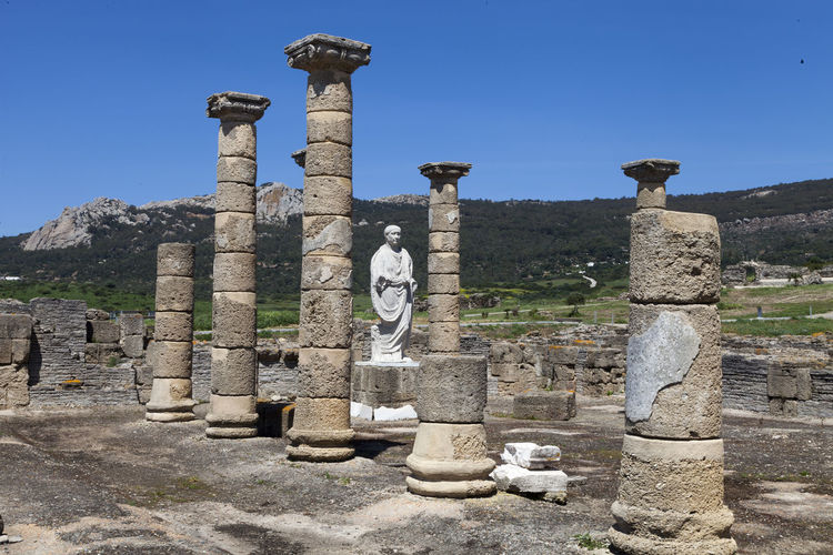 Baelo Claudia Romans Ruins Baelo Claudia Ancient Ancient Civilization Archaeology Architectural Column Architecture Art And Craft Belief Bolonia Dune Built Structure Clear Sky Day History Nature No People Old Old Ruin Outdoors Ruined Sky Solid Stone Material The Past Travel Travel Destinations