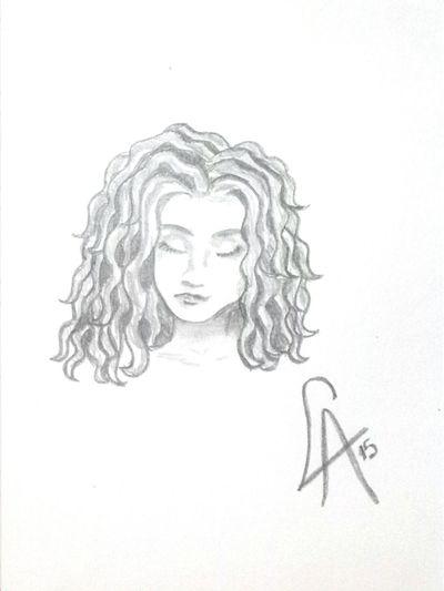 Autorretrato. Autora: Luisina © That's Me Dibujo My Drawing (: Drawing ✏ My Draw ♥ Drawings Drawing Art, Drawing, Creativity Hello World Pencil Drawing