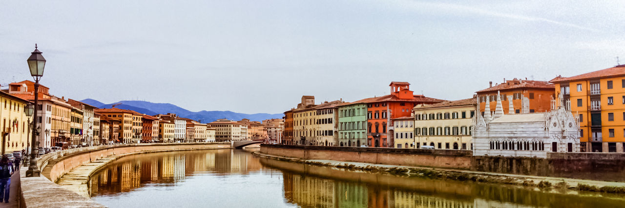 Arno Riverview in Pisa Region Arno  Colorful Italy Pisa Reflection River Santa Maria Della Spina Tuscany Water Waterfront