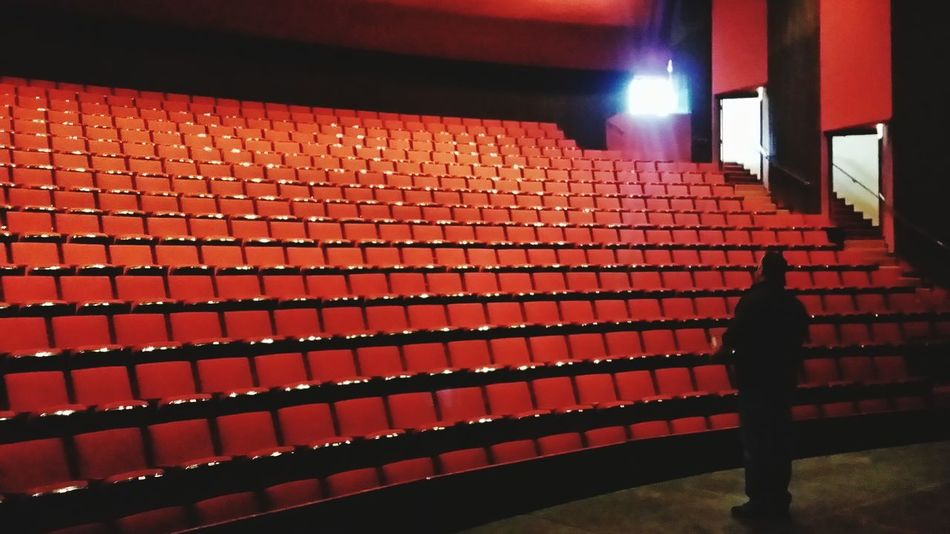 Theater Theatre Improv Theatrelife Concert Hall  Illuminated Red Performance One Man Only One Person Night Auditorium Indoors  Showbiz Film Industry Adults Only No Business Like Show Business