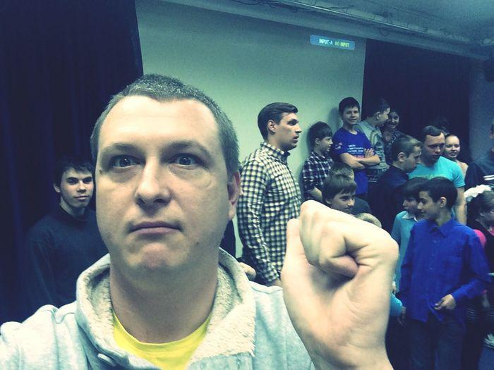 Russian movie star Artem Krestnikov & Nodar Janelidze meeting with kids))) That's awesom!)) Selfie