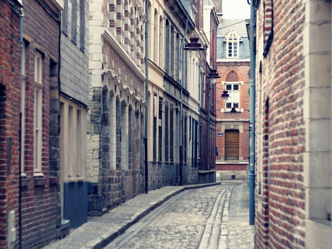 [Street & Moments of Lille/France] City Life Cityscape Old Town Alley Architecture Brick Wall City Claudetheen Street Street Photography Streetphotography Vintage