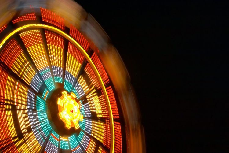 Ferris wheel Ferris Wheel Carnival Fun Funfair Lights Night Lights Slow Shutter