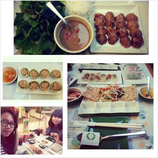Wrap N Roll Vietnamese Food Singapore Restaurant Dinner Time