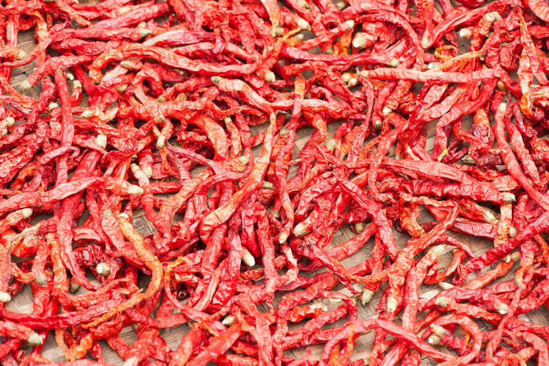 Abundance Backgrounds Chilling Chinese Pepp Food Food And Drink Freshness Full Frame Heap Ingredient Large Group Of Objects Pepper Drying Pepper Sichuan Red Red Chili Pepper Retail  Spice Spicy Spicy Food Spreading Vegetable