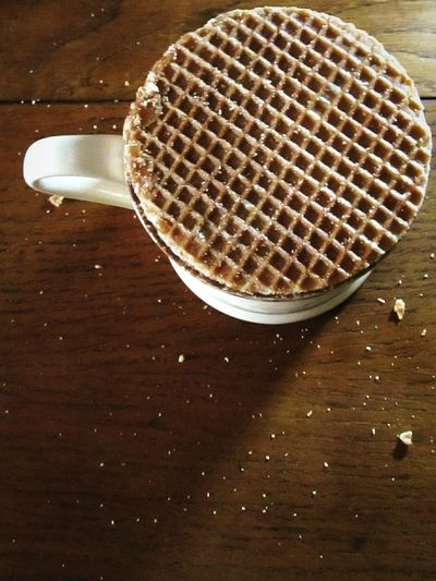 Holiday Desserts The Syrup Waffle warming overhot coffee❕soft and cinnamon. Originally Dutch but now you can also get them here in Britain 💜 Check This Out The Week Of Eyeem Holidays Warmth Minimalism Hello World From My Point Of View in Rushden