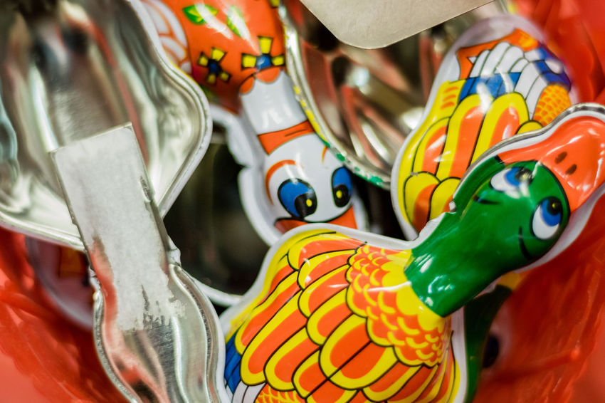 Multi Colored Indoors  Close-up No People Animal Themes Day Childhood Memories Memories Ducks Metal Sound Sonidos Backgrounds Large Group Of Objects Group Of Objects Textures And Surfaces Portrait Of A City Childhood Happiness Happy Memories