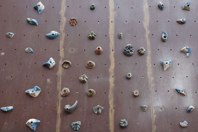 Full Frame Shot Of Climbing Wall