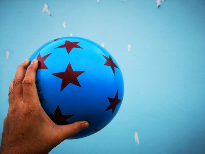 Wall Backgrounds Catch Hand Color Football Soccer Footer EyeEm Selects Human Hand Water Blue Patriotism Flag Close-up Star Shape Body Part Finger