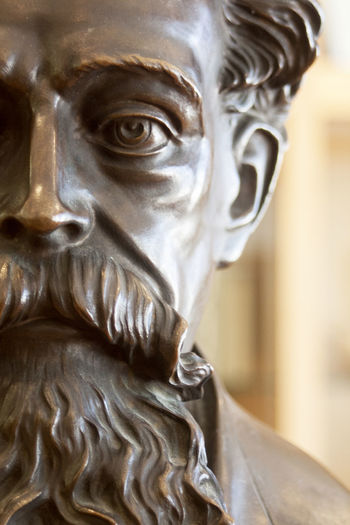 Photo of bust of Dickens Close-up Human Body Part Portrait Sculpture Human Representation Art And Craft Representation Statue One Person Indoors  Headshot Male Likeness Body Part Bronze - Alloy Craft Emotion Creativity Focus On Foreground Human Face Human Hair Contemplation Dickens Dickens Bust