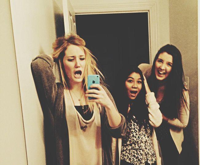 Being goofs!