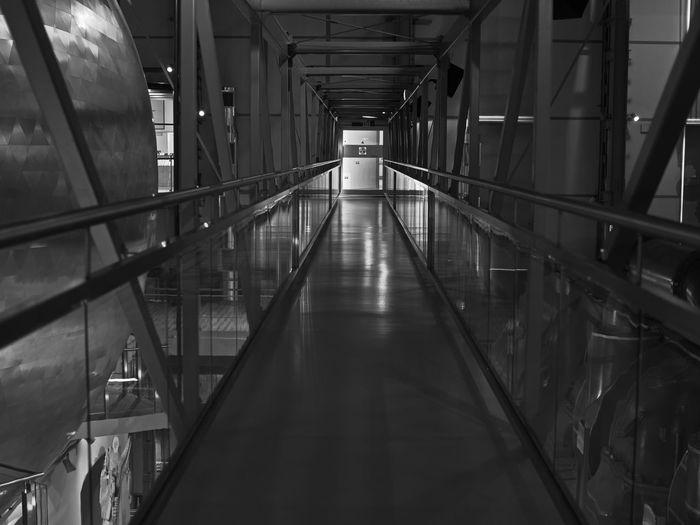 Bridge inside the nuclear energy center