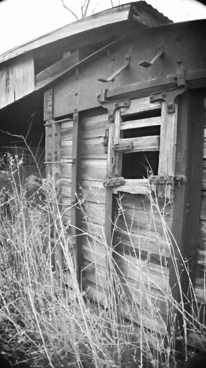 Abandoned Outdoors Wood - Material Obsolete Building Exterior Black & White Rural Scenes