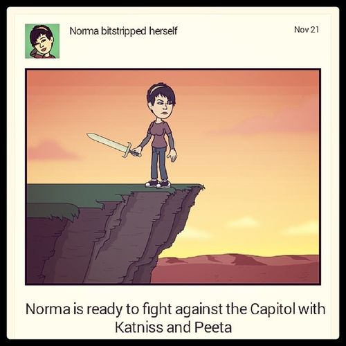 Hehehe Humir Hatethecapitol Katniss PeetagirlonfirecatchingfirehungergamesnerdforlifeGEEKFINALLY