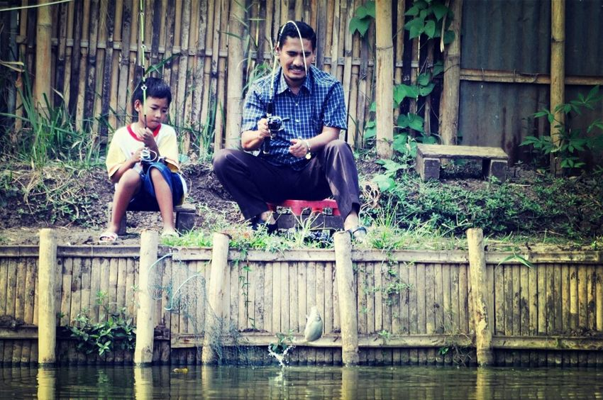Fishing Family Street Photography Mancing