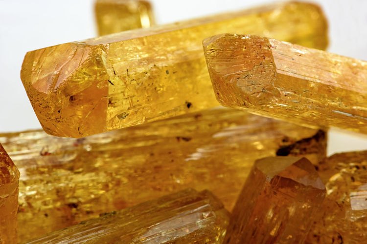 Detail of brazilian Imperial Topaz crystal with its texture, colors and transparency Crude Imperial Topaz Natural Nature Precious Quartz Rock Expensive Gem Gemstone  Geological Geology Jewlery Matrix Mineral Mineralogy Stone Texture Topaz Transparency Transparent Uncut
