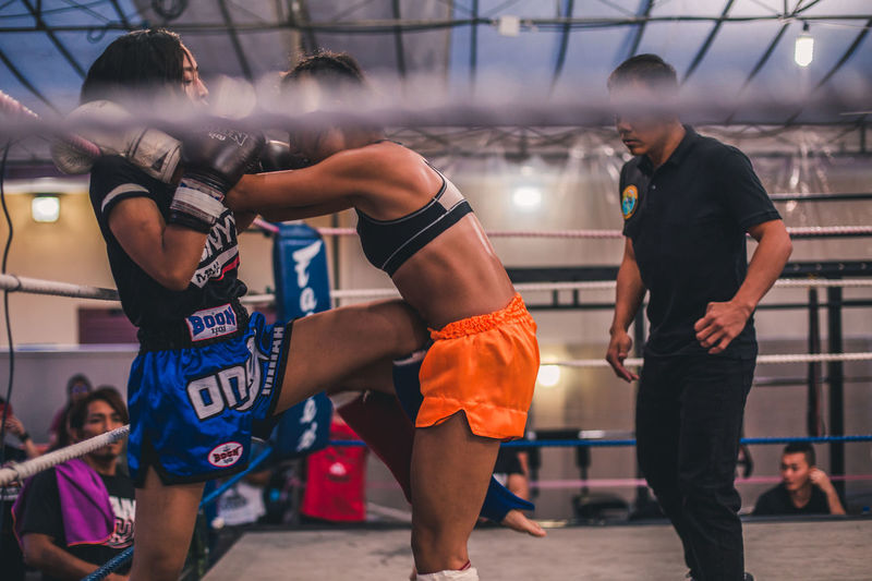 Knee! International Women's Day 2019 Lifestyles Sport People Strength Boxing - Sport Skill  Effort Vitality Women Muay Thai Knee Kickboxing Sportswoman Young Women Fitness