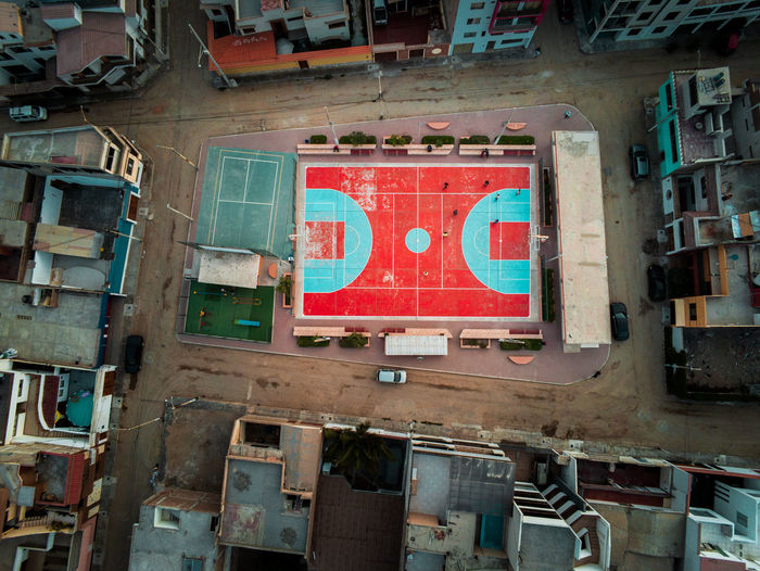 No People Red Transportation Built Structure Day Architecture Dronephotography Areal View Court City Urban Trujillo Sport Basketball Football Abandoned South America Town Drone Photography Drone  EyeEm Best Shots EyeEm Selects EyeEm Gallery EyeEm Drone Shots