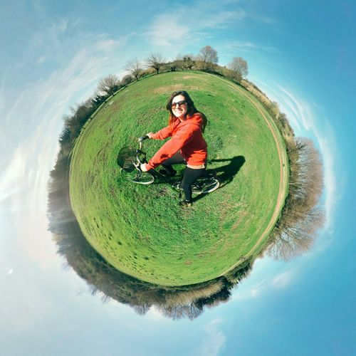 LittlePlanet Tinyplanet Bike Bicycle Enjoying The Sun Escaping Sunbathing