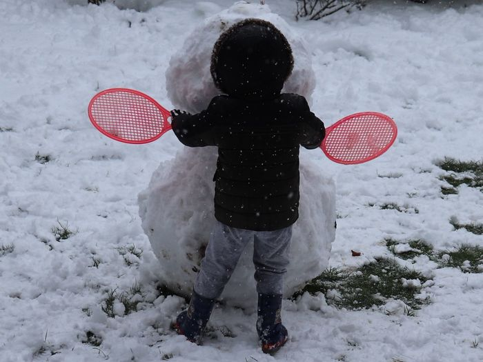 Snow Winter One Person Leisure Activity Cold Temperature Real People Child