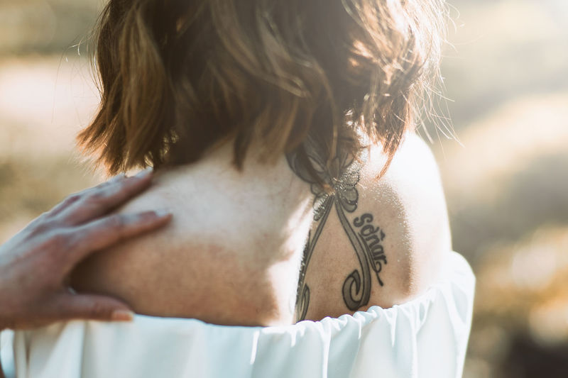 Tattoos... Taking Photos Taking Photos Eye4photography  Freshness Sun Sunset Girl Tatoo Beach Sky Beautiful Woman Natural Beauty Sensuous Pretty Hair Back Springtime Decadence