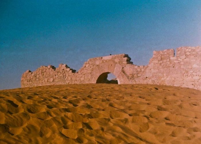 Monument in the desert Arid Climate Desert Geology Landscape Monument No People Sand Sand Dune