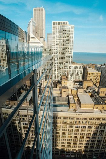 Architecture Building Exterior Built Structure Skyscraper City Cityscape Tower Day Sky Modern High Angle View Outdoors City Street Urbanexploration City Life Chicago Architecture Cityscape Photography Streetphotography Cityscape Architecture Sea Tall Travel Destinations Urban Skyline Nature