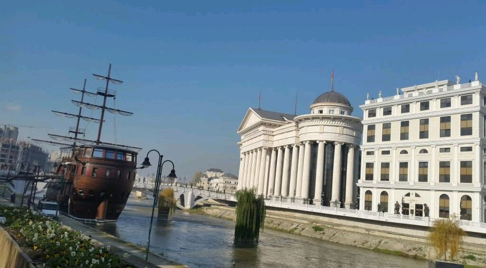 Been There. Travel Destinations Architecture Building Exterior No People City Travel River View Built Structure Vardar River New City in скопје Skopje Macedonia Former Yugoslavia FYROM