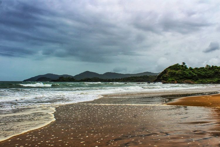 Cloud - Sky Beach Sky Water Land Sea Beauty In Nature Sand Scenics - Nature Mountain Nature Day Tranquility No People Tranquil Scene Motion Outdoors Wave
