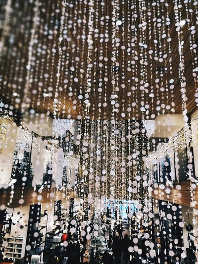 Full Frame Window Backgrounds Outdoors Day No People Water Tree Nature Close-up Pixelated Light Christmas Decoration