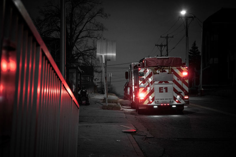 Chicopee, MA Firetruck First Responders Wheelchair Selective Color People In Need Emergency Health Care And Medical