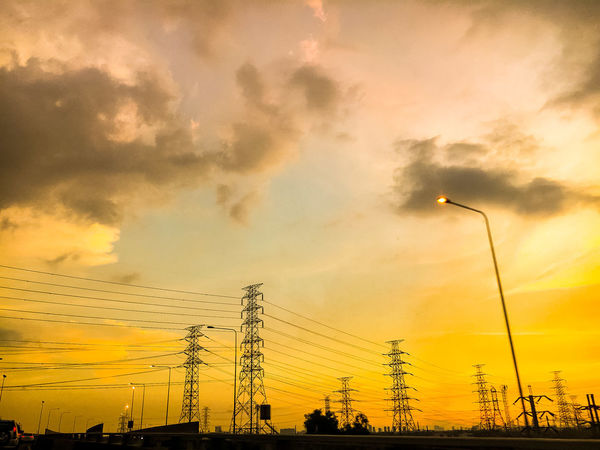 high voltage pole Steam High Air Energy Sky Cloud Clous And Sky High Voltage Pole Technology Sunset Dramatic Sky Sky Silhouette Cloud - Sky Outdoors Low Angle View