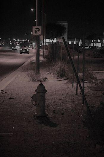 Illuminated car at night