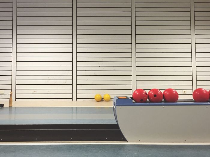 Ball Yellow Red Colors Textures And Surfaces Bowling Lines